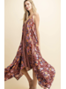 BORDER FLOWER MIXED DRESS