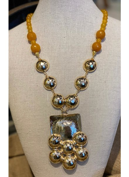 Gold Plated Bead Necklace