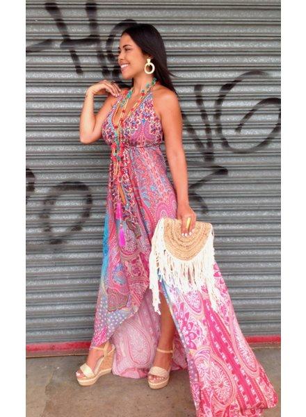 Pink Silky Dress