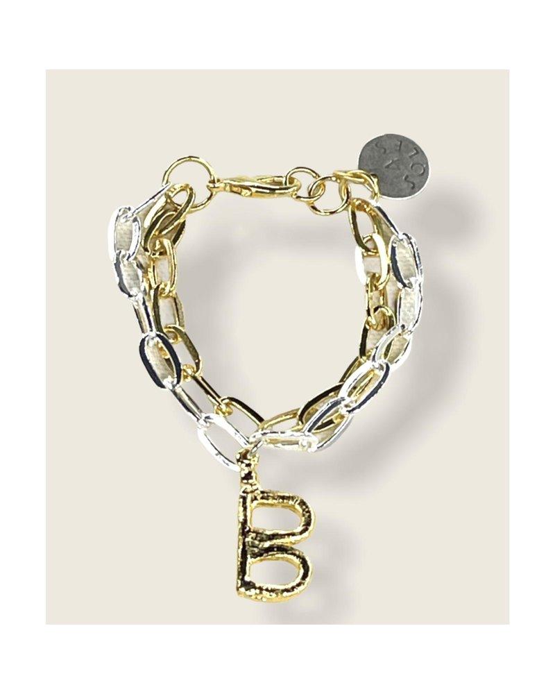 4 Soles Letter Bracelet