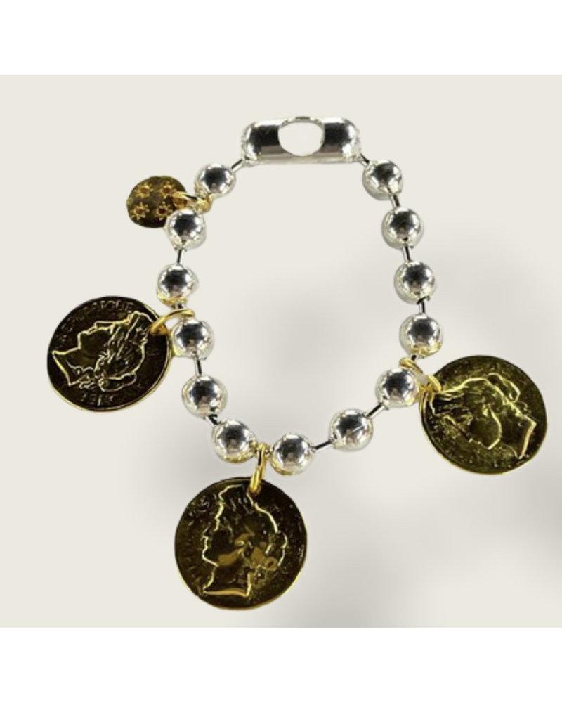 3 coins bracelet