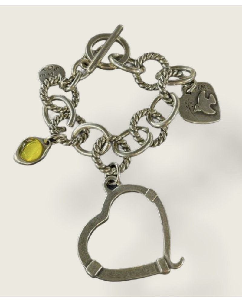 big heart 4 soles bracelet