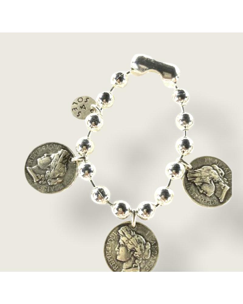 3 Coins bracelet by 4 Soles
