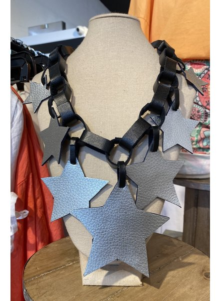 Reversible Laether Necklace