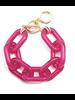 Colorful Chain Bracelet  Fucsia