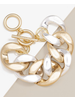 Copy of silver Burnished Large Curb Chain Bracelet Jewelr