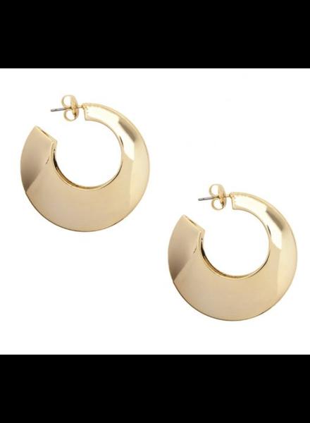 Shiny Painted Metal Hollow Hoop Earring