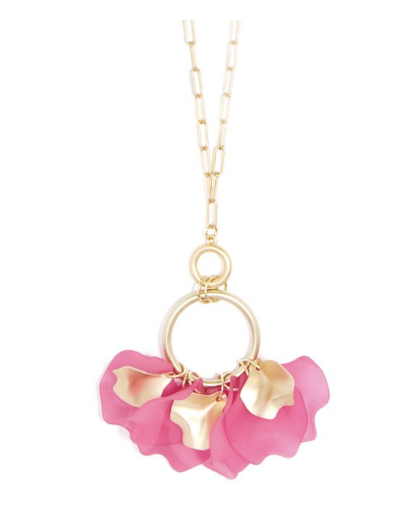 hot pink Matte Long chain Necklace