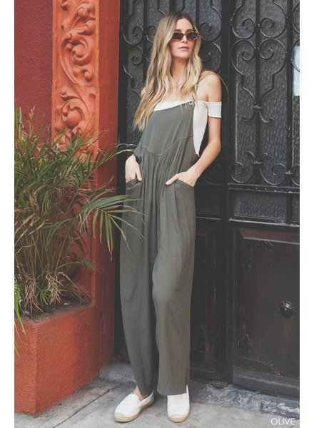 OVERALL RAYON CREPE JUMPSUIT