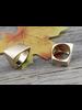 Brass Gold-plated Charming Irregular Metal Ring