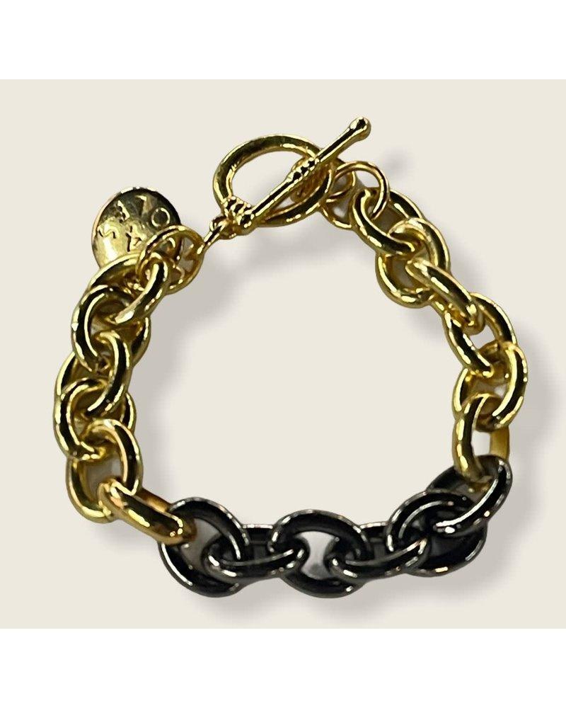2 tone 4 soles bracelet