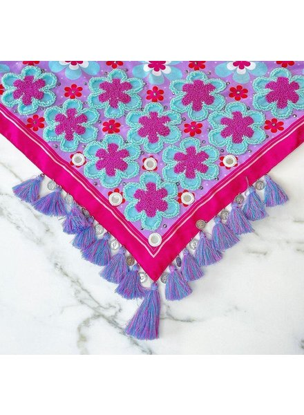 embroidered silk panolets #17