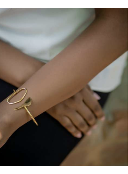 Picasso Brass/Gold Plated Bracelet