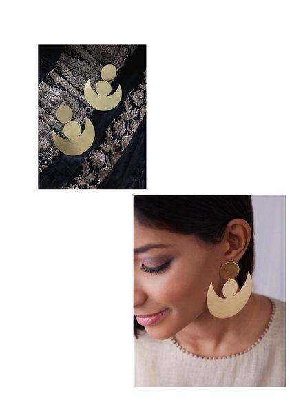 Half Moon earrings by 4 Soles