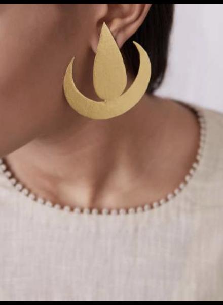 Lotus Earrings by 4 Soles