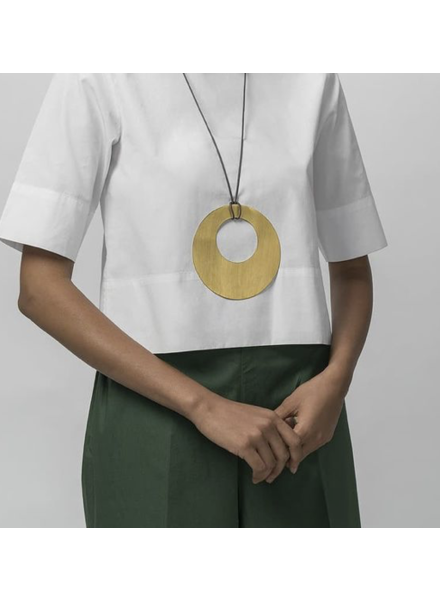 """Big Circle 5"""" Necklace by 4 Soles"""