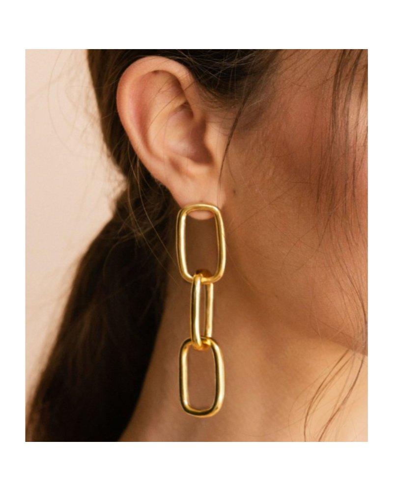 Chain earrings by 4 Soles