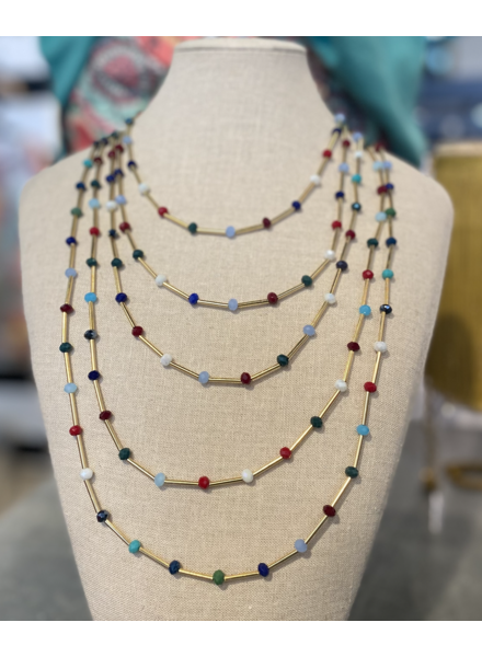 Layer Necklace with Beads