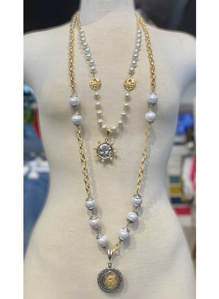 2 Layer Pearl Necklace