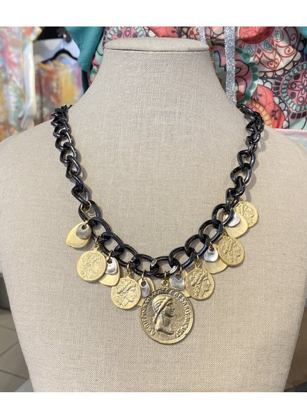 Gold Plated Coins Necklace