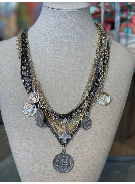 Multi Chain & Coins Necklaces