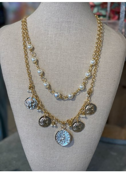 Gold Coins & Pearl Necklaces