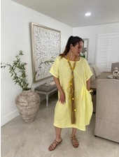 High Quality Linen with Pockets One Size