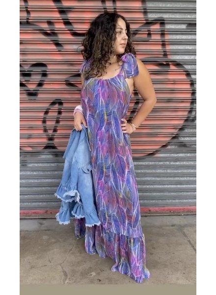 Violet Print Maxi Dress