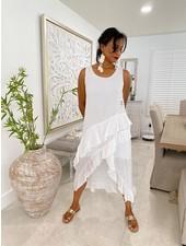 Cotton Dresse W Ruffles