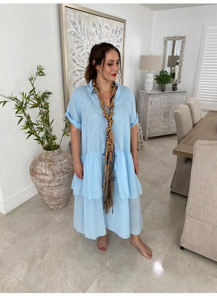 Dresses With Ruffles With Sleeves One Size