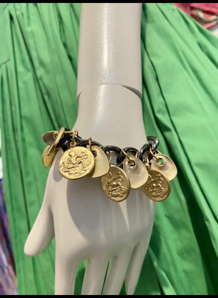 Gold Plated Coins Bracelet