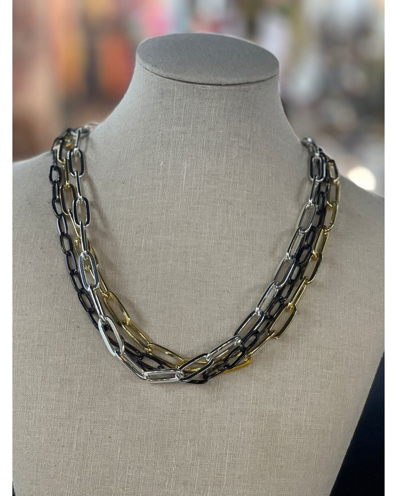 3 layers Marine Necklace Long or Short