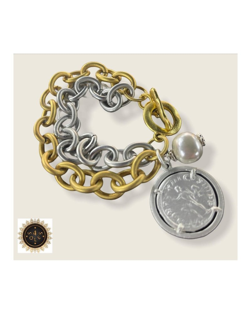 Coin Bracelet by 4 Sole5