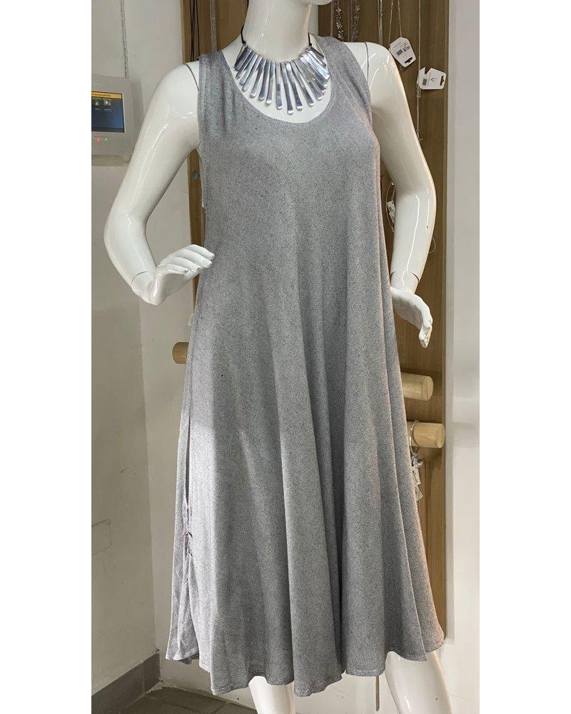 Dress Sleveless Grey One Size