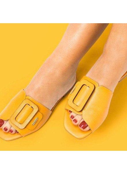 Mustard leather Sandal
