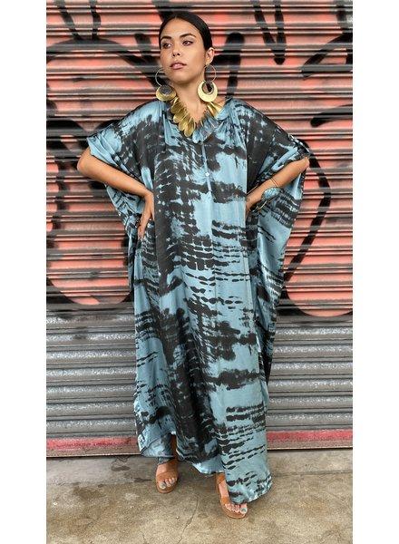 Oversized Silk Dress Tie Dye