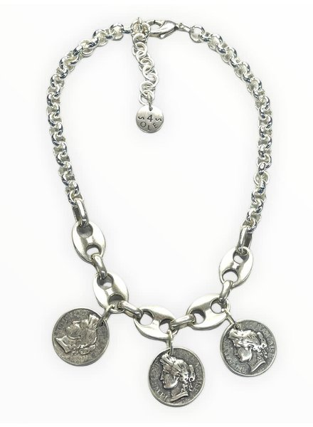 Big Mariner Coin Necklace by 4 Soles