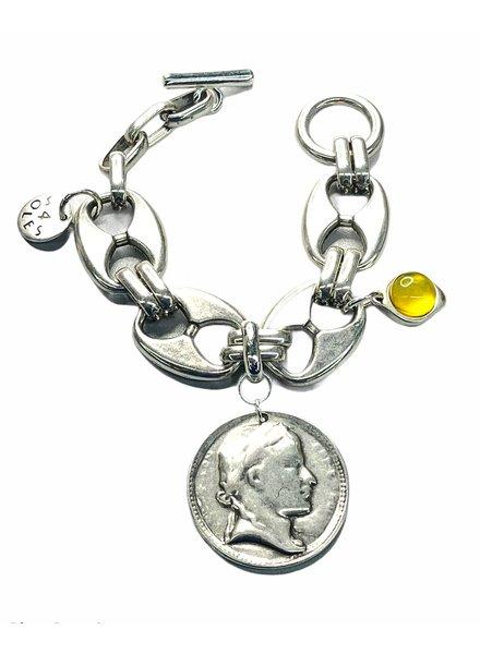 Big Mariner Coin Bracelet by 4 Soles