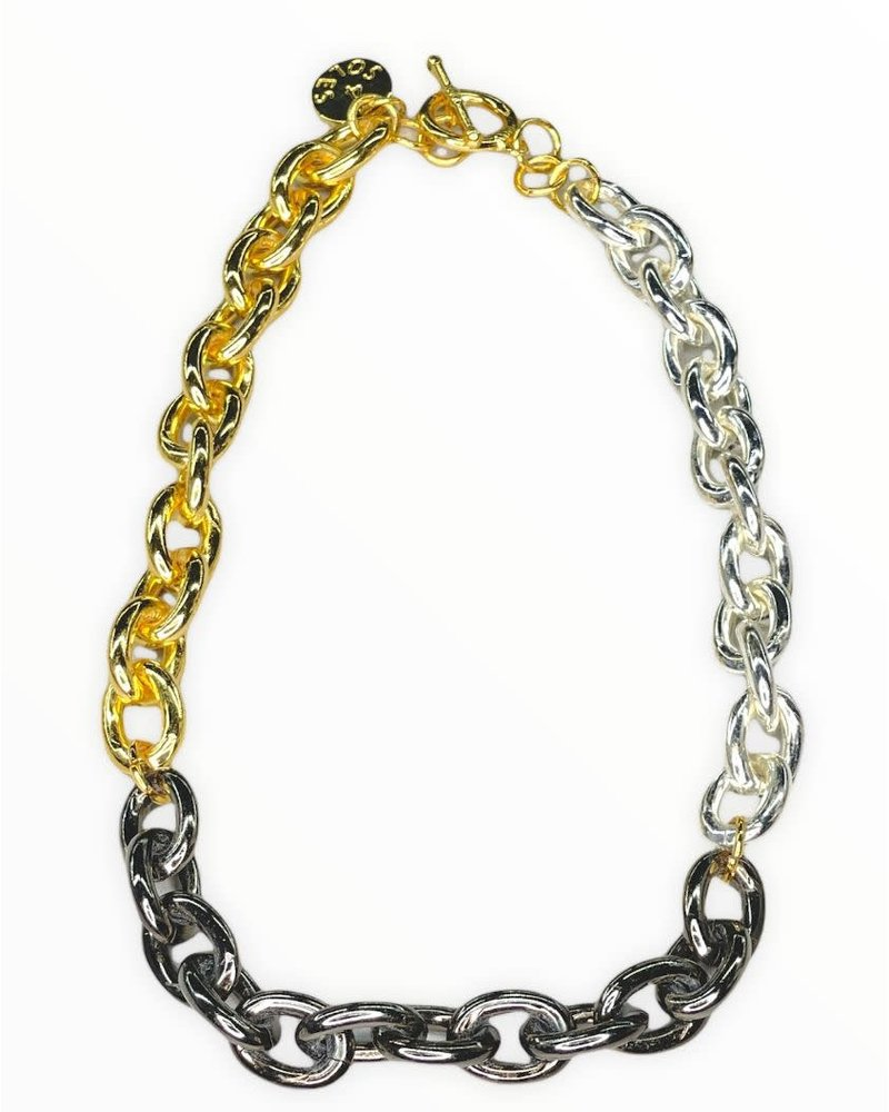 3 Tone Necklace by 4 Soles