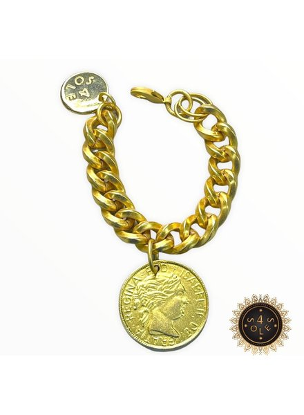 Coin Gold Bracelet by 4 Soles