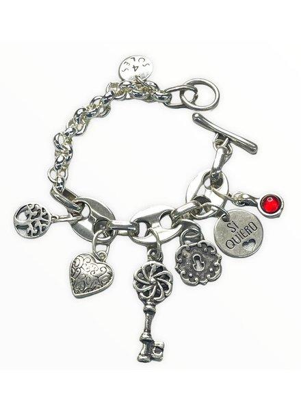 Silver Charm Bracelet by 4 Soles