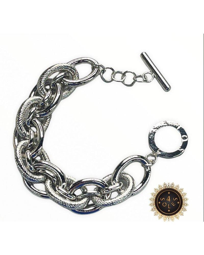 4 Soles Silver Bracelet