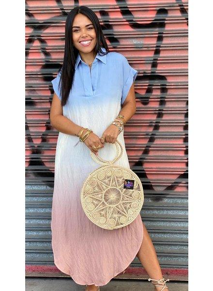Sheer Dip Dye Maxi Dress