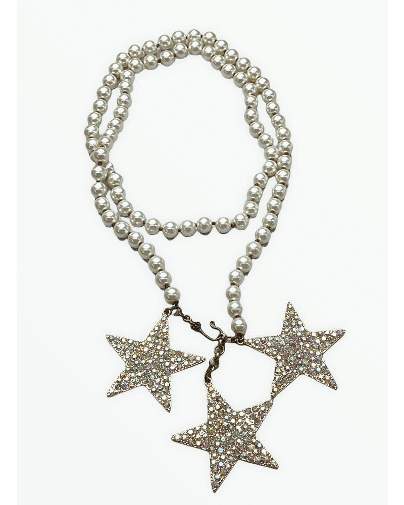3 Star/pearl necklaces long or short