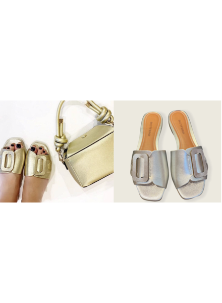 Gold or Silver  leather Sandal