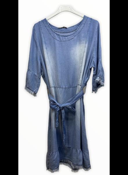 one size short denim dress