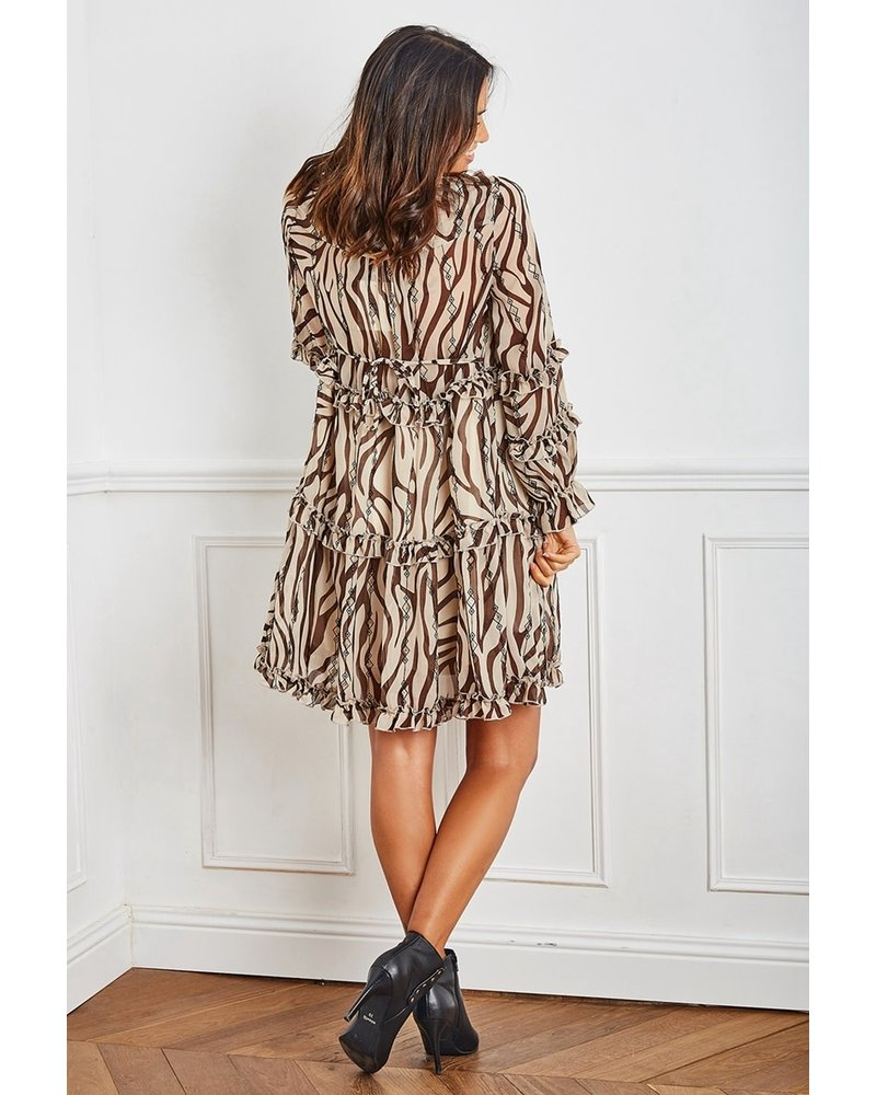 Bohemian and Ruffle Dress