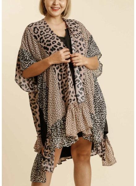 Animal Mixed Print Kimono