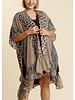 Aninal Mixed Print Kimono