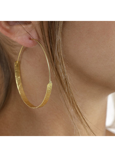 EARRINGS WICKED TWO-WHEELED CIRCLE